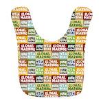 Global Warming Hoax Polyester Baby Bib