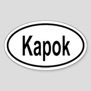 KAPOK Oval Sticker