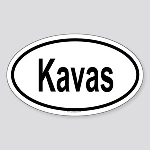 KAVAS Oval Sticker