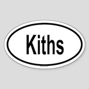 KITHS Oval Sticker