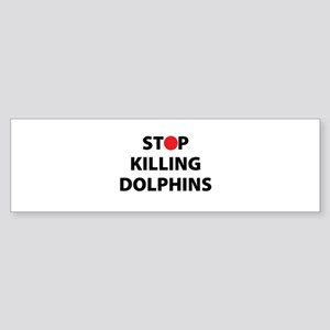 Stop Killing Dolphins Japan Japanes Bumper Sticker
