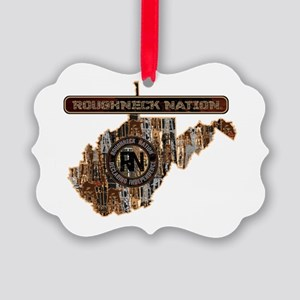 West Virginia Rig Up Camo Picture Ornament