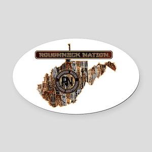 West Virginia Rig Up Camo Oval Car Magnet
