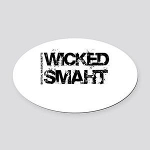 Wicked Smaht Oval Car Magnet