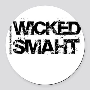 Wicked Smaht Round Car Magnet