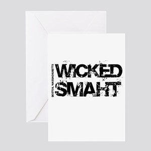 Wicked Smaht Greeting Card