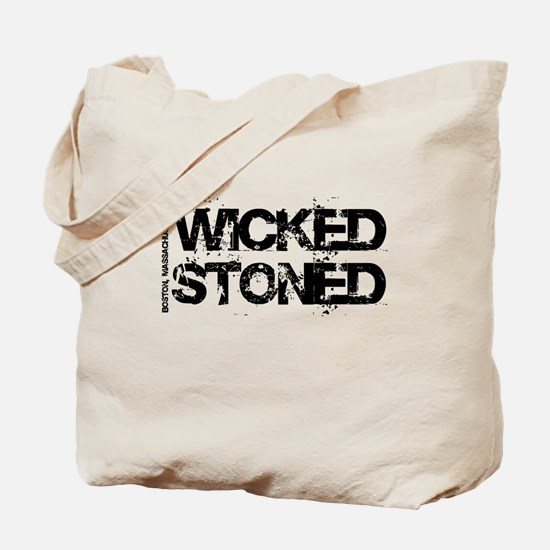 Wicked Stoned Boston Tote Bag