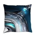 Reflections of Blue Everyday Pillow