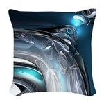 Reflections of Blue Woven Throw Pillow