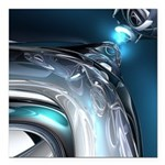 Reflections of Blue Square Car Magnet 3