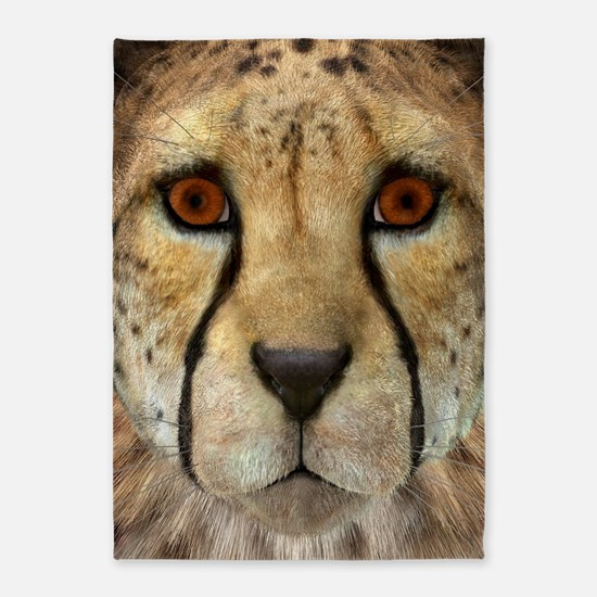Cheetah 5'x7'Area Rug