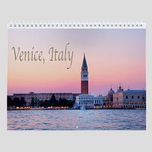 Venice Italy Sunset Waterview Wall Calendar