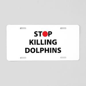 Stop Killing Dolphins Japan Aluminum License Plate