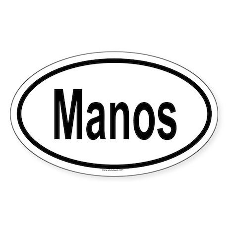 MANOS Oval Sticker