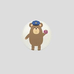 Police Office Brown Bear Mini Button