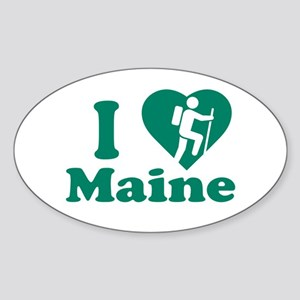 Love Hiking Maine Sticker (Oval)