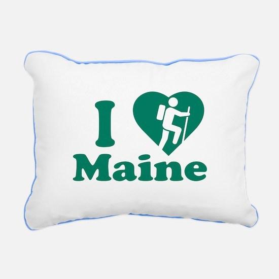 Love Hiking Maine Rectangular Canvas Pillow