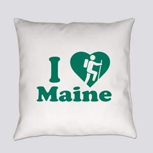 Love Hiking Maine Everyday Pillow