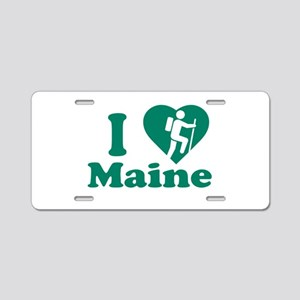 Love Hiking Maine Aluminum License Plate
