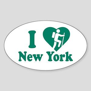 Love Hiking New York Sticker (Oval)