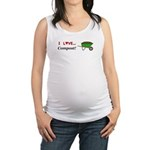 I Love Compost Maternity Tank Top