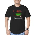 I Love Compost Men's Fitted T-Shirt (dark)