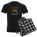 I Love Compost Men's Dark Pajamas