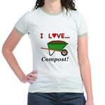 I Love Compost Jr. Ringer T-Shirt