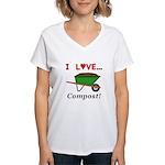 I Love Compost Women's V-Neck T-Shirt