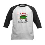 I Love Compost Kids Baseball Jersey