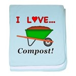 I Love Compost baby blanket