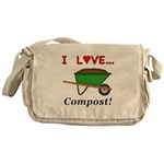 I Love Compost Messenger Bag