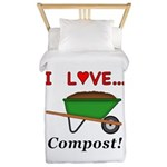 I Love Compost Twin Duvet