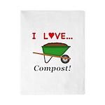 I Love Compost Twin Duvet