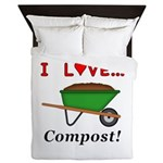 I Love Compost Queen Duvet