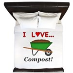 I Love Compost King Duvet