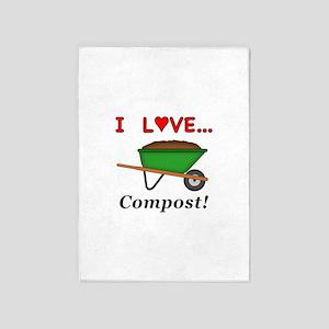 I Love Compost 5'x7'Area Rug