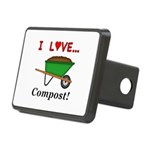 I Love Compost Rectangular Hitch Cover
