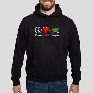 Peace Love Compost Hoodie (dark)