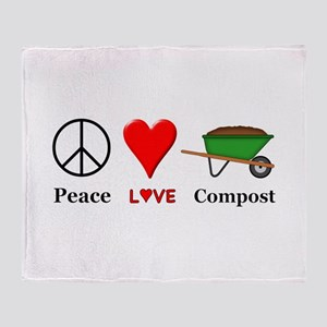 Peace Love Compost Throw Blanket