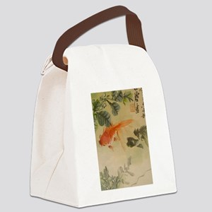 koi fish goldfish Vintage Japanes Canvas Lunch Bag