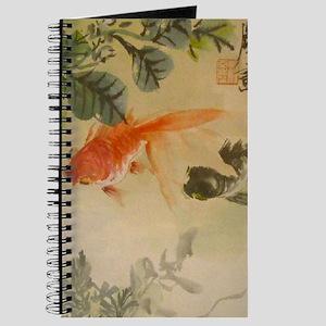 koi fish goldfish Vintage Japanese Journal
