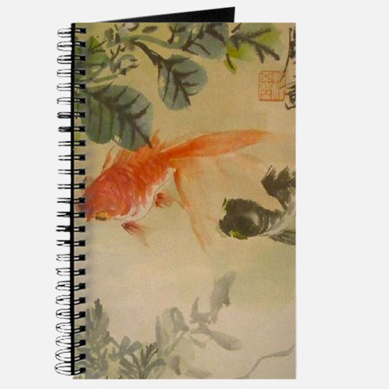 koi fish goldfish Vintage Japanese Journal