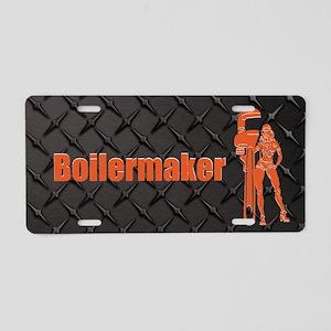 Boilermaker Black Aluminum License Plate