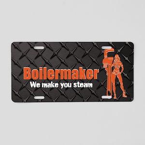 Boilermaker We Make Steam Aluminum License Plate