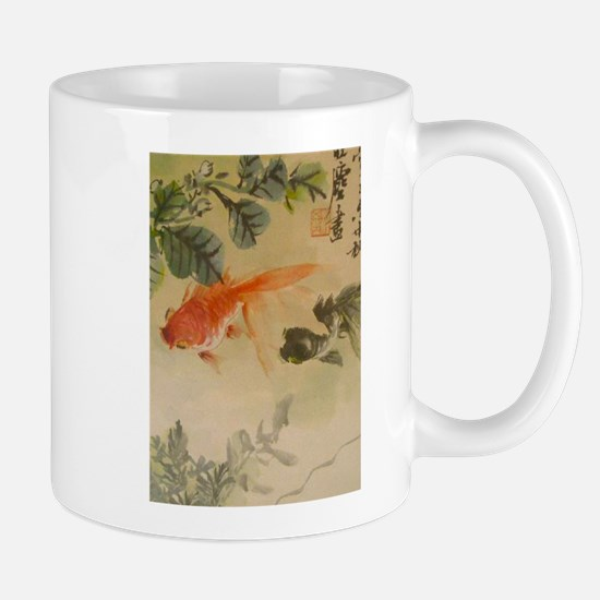 koi fish goldfish Vintage Japanese Mugs