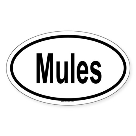 MULES Oval Sticker
