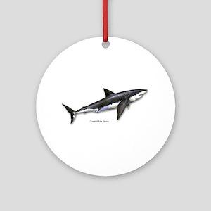 Great White Shark Keepsake (Round)