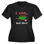 I Love Bull Women's Plus Size V-Neck Dark T-Shirt