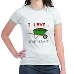 I Love Bull Sh#t Jr. Ringer T-Shirt